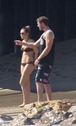 Miley Cyrus in Bikini at The Beach in Malibu-3
