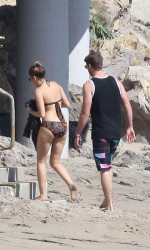 Miley Cyrus in Bikini at The Beach in Malibu-5