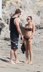 Miley Cyrus in Bikini at The Beach in Malibu-7