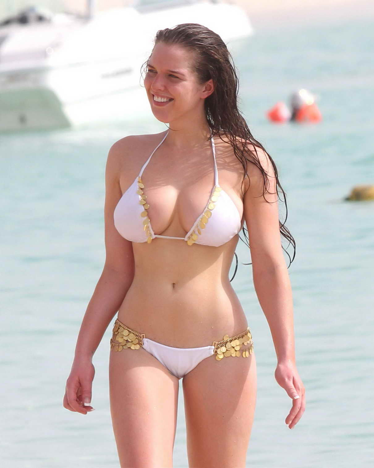 Helen Flanagan in a Stunning Bikini on the Beach in Dubai-3 ... Alessandra Ambrosio