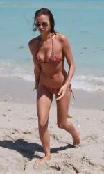 Irina Shayk in Bikini at a Beach in Miami-5
