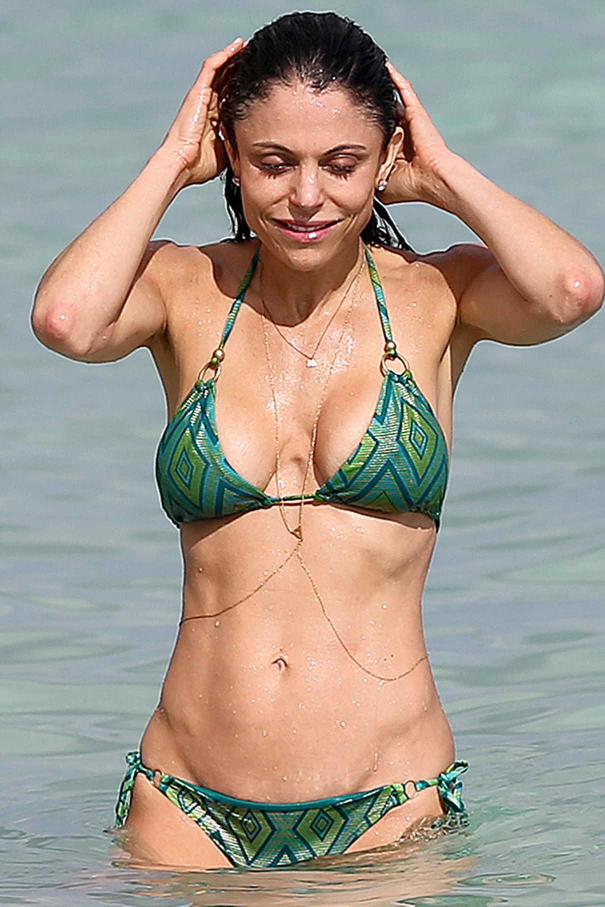 Kelly rowland green bikini