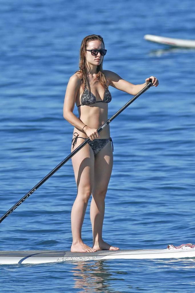 Olivia Wilde in Bikini at the Beach in Maui-1