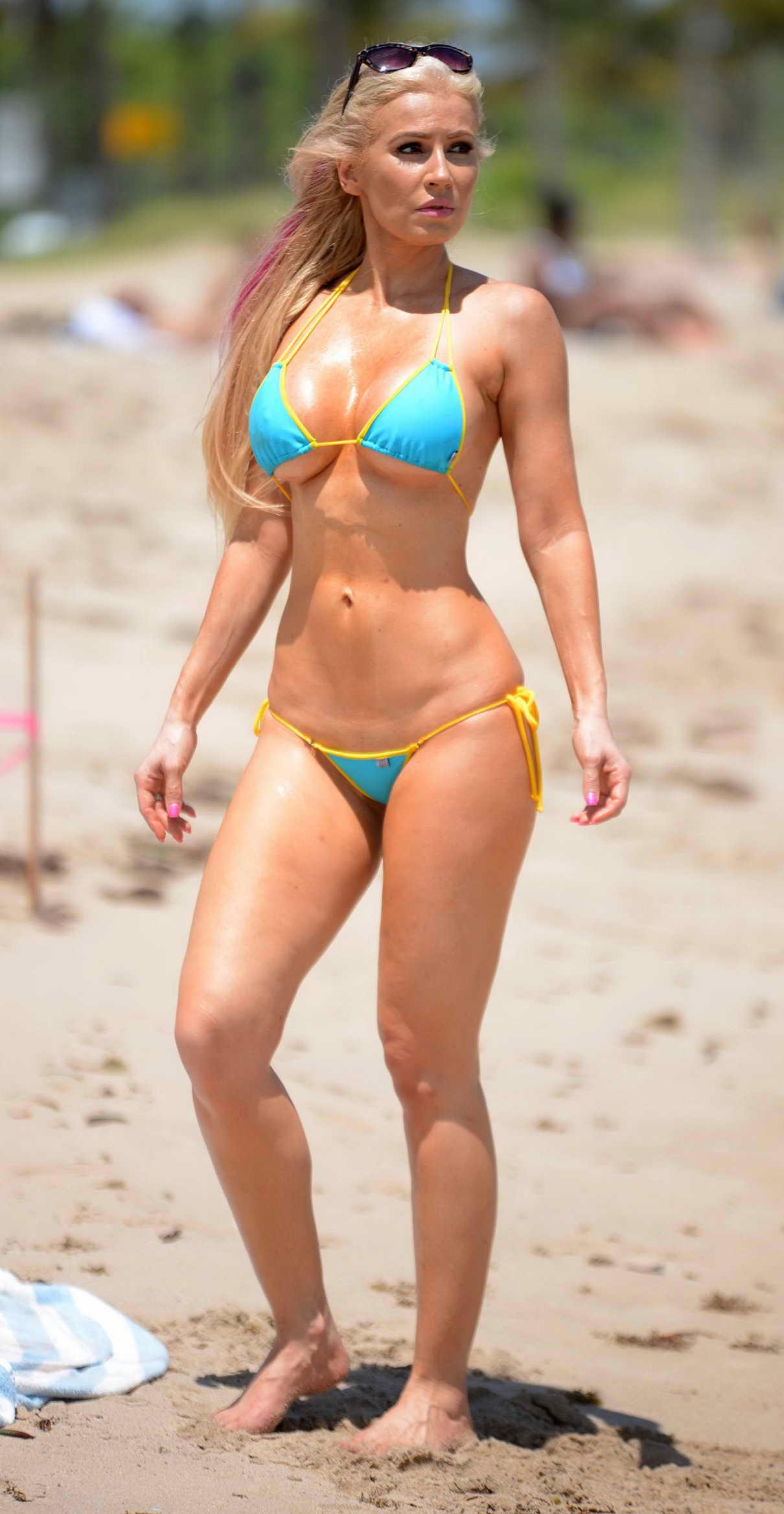 Back To Post Anastagia Pierre Bikini Candids On The Beach