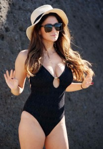 Casey Batchelor in Black Swimsuit in Tennerife-3