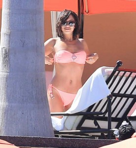 Cheryl Burke in Bikini at the Poolside in Miami-5
