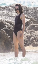 Daisy Ridley in Bikini at the Beach in Miami 12/31/2015-2