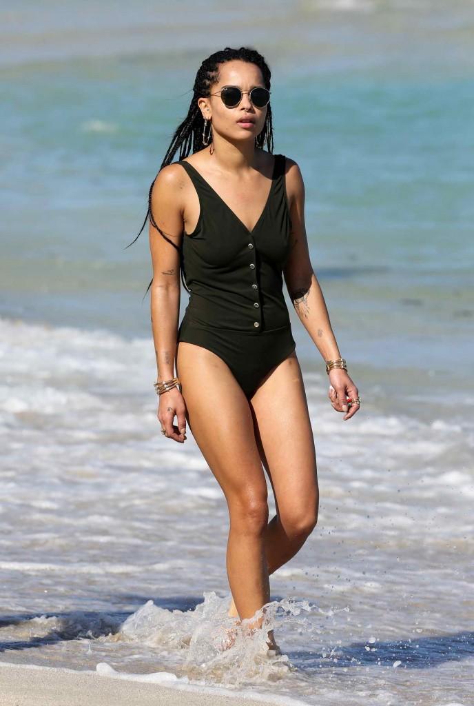 Zoë Kravitz at the Beach in Miami-1