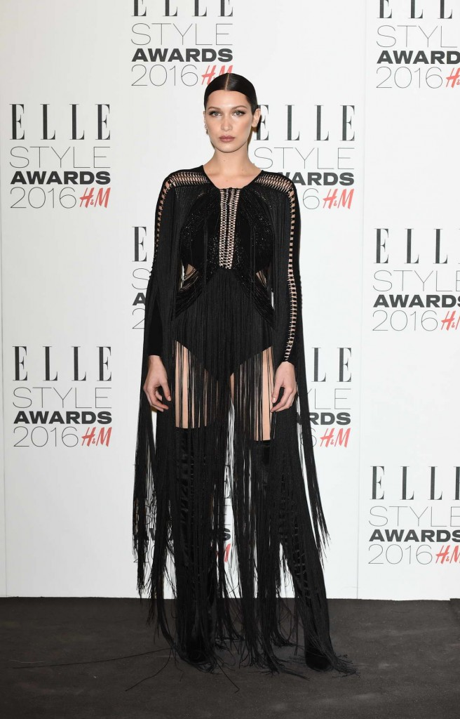 Bella Hadid at Elle Style Awards 2016 in London 02/23/2016-1