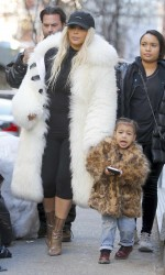 Kim Kardashian Leaves Cipriani Restaurant in New York City With Her Daughter 02/14/2016-2