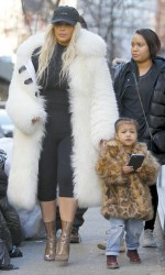 Kim Kardashian Leaves Cipriani Restaurant in New York City With Her Daughter 02/14/2016-3