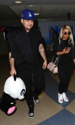 Blac Chyna in Los Angeles Airport 03/27/2016