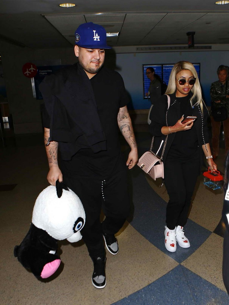 Blac Chyna in Los Angeles Airport 03/27/2016-1