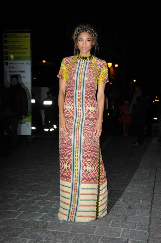Ciara Arriving at H&M Fashion Show in Paris 03/02/2016-1