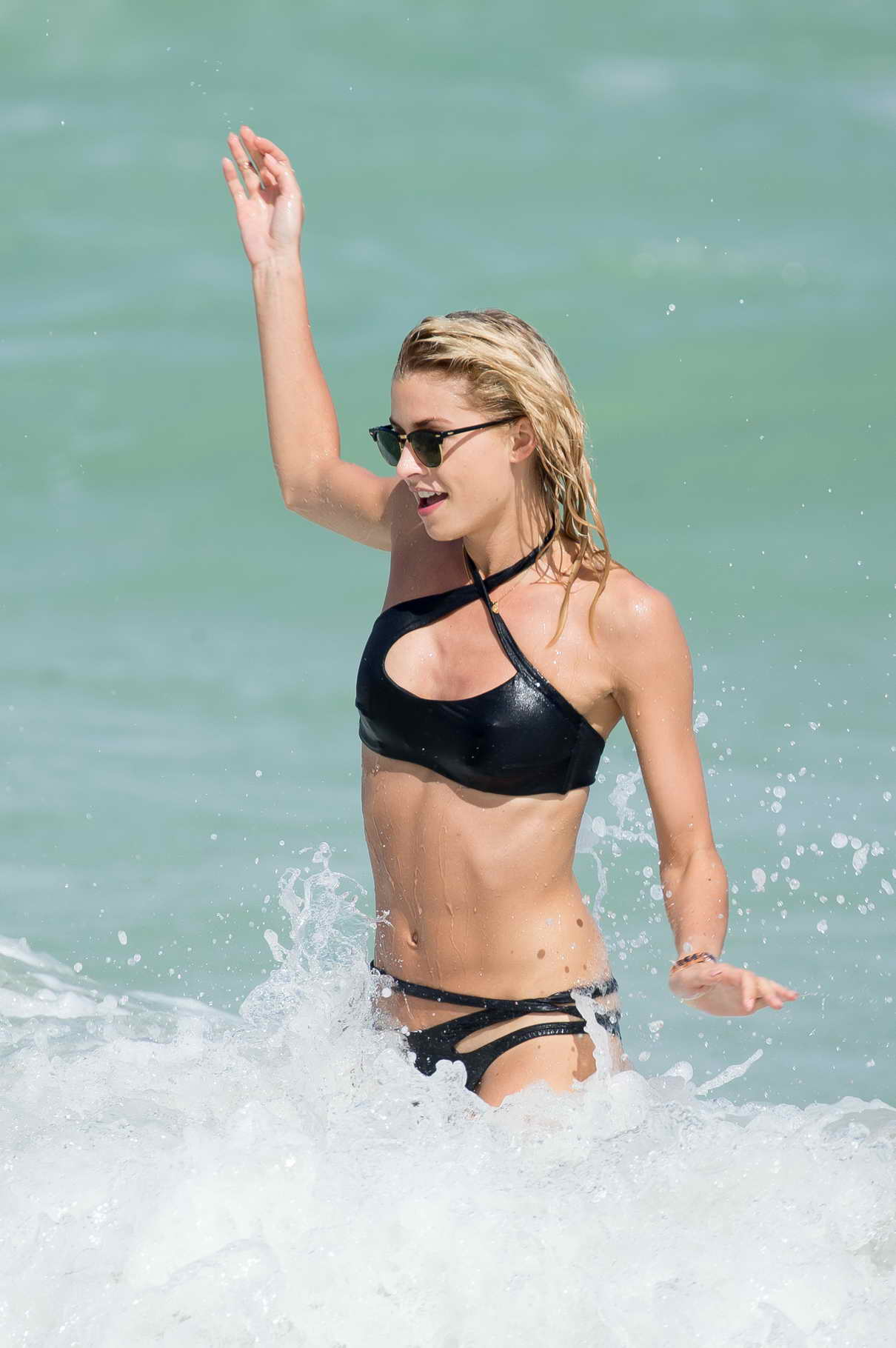 Lena Gercke in Bikini at the Beach in Miami 10/21/2015-5