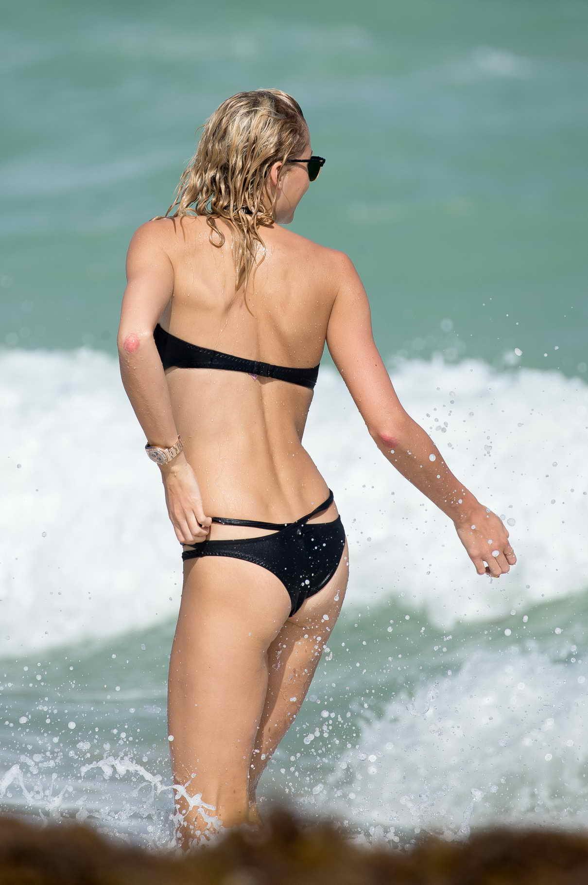 Lena Gercke in Bikini at the Beach in Miami 10/21/2015-9
