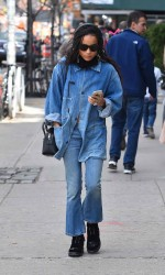 Zoe Kravitz Out in New York City 03/17/2016