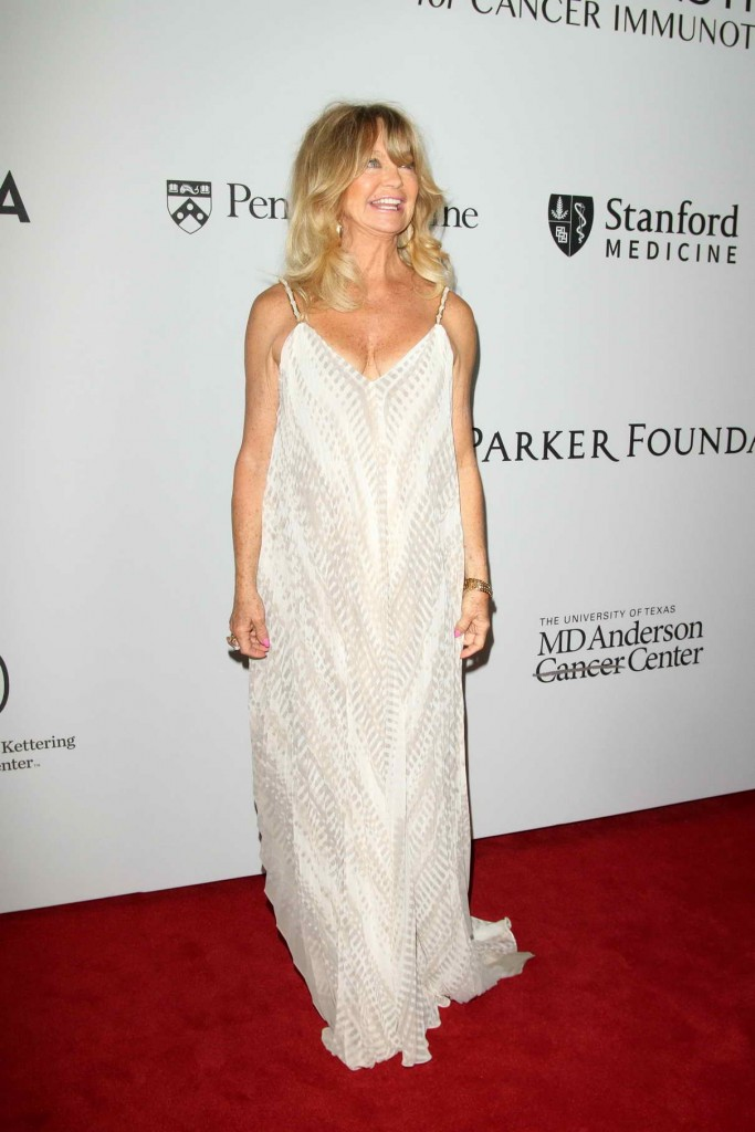 Goldie Hawn at The Parker Institute For Cancer Immunotherapy Launch Gala in LA 04/13/2016-1