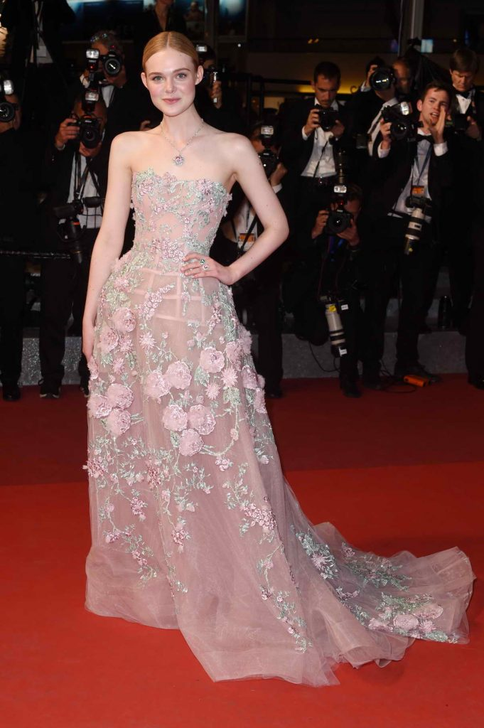 Elle Fanning at The Neon Demon Premiere During 69th Cannes Film Festival 05/20/2016-1