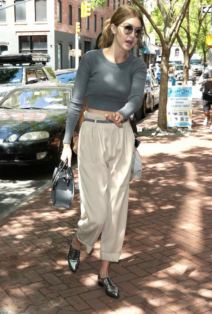 Gigi Hadid Shops at Color Me Mine in New York City 05/18/2016-1