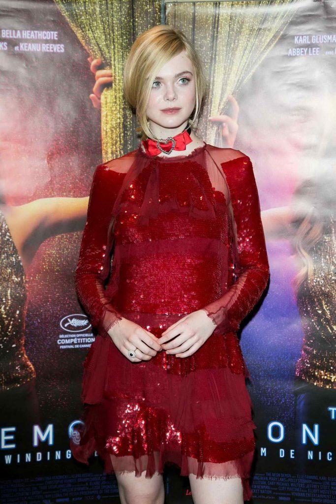 Elle Fanning Attends The Neon Demon Paris Premiere 06/03/2016-1
