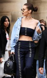 Bella Hadid Leaves the Versace Fashion Show in Paris 07/03/2016-2