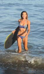 Denise Richards in Bikini at the Beach in California 07/31/2016