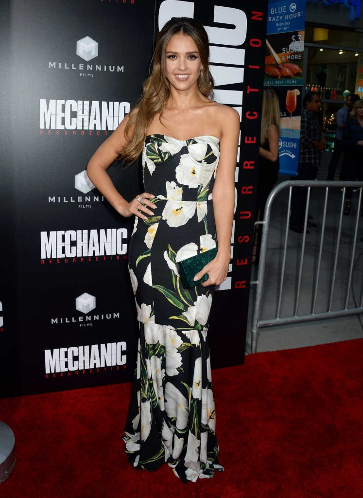 Jessica Alba at the Mechanic: Resurrection Premiere at ArcLight Hollywood in Los Angeles 08/22/2016-1