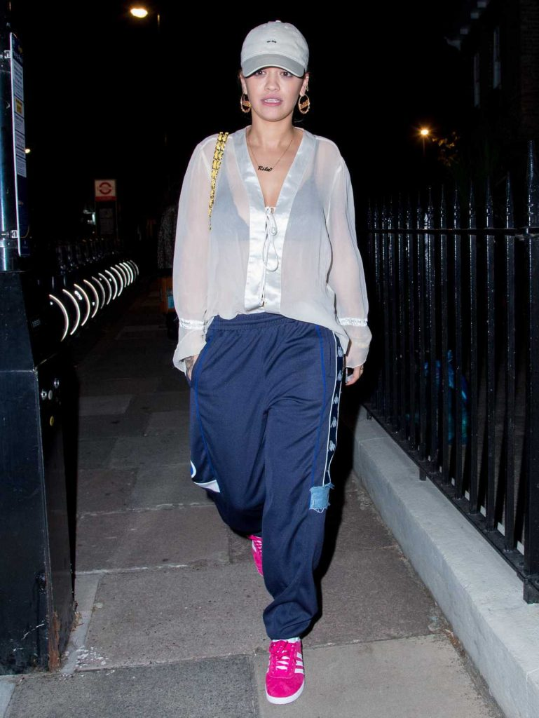 Rita Ora Leavies a Recording Studio in London 09/12/2016-1