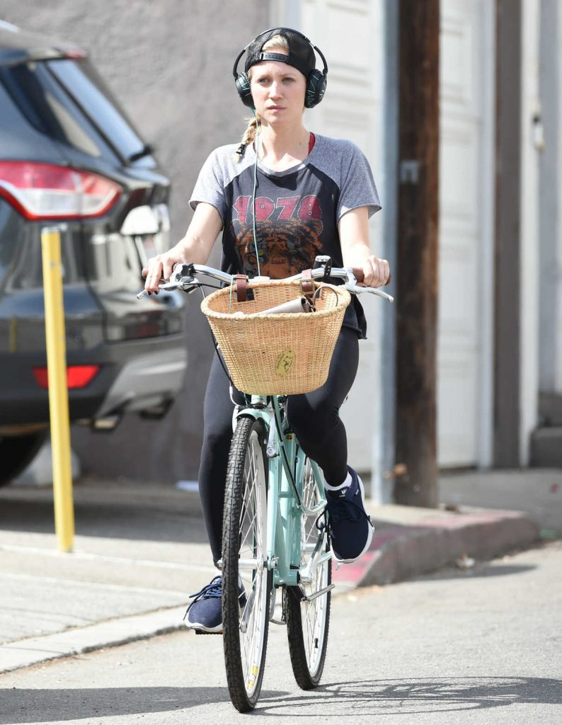 Brittany Snow Goes for a Bike Ride in Los Angeles 10/07/2016-1