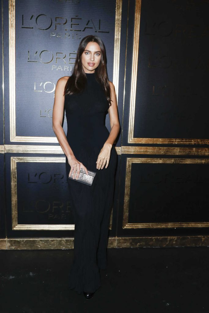 Irina Shayk at the Gold Obsession Party During the Paris Fashion Week 10/02/2016-1
