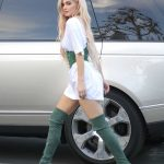 Kylie Jenner Leaves an Office Meeting in a Corset and Green Boots in LA 10/17/2016-3