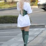Kylie Jenner Leaves an Office Meeting in a Corset and Green Boots in LA 10/17/2016-4