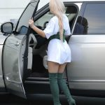 Kylie Jenner Leaves an Office Meeting in a Corset and Green Boots in LA 10/17/2016-5