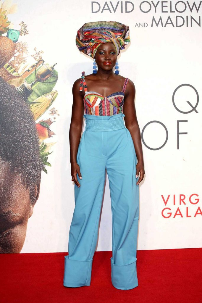 Lupita Nyong'o at the Queen of Katwe Premiere During the London Film Festival 10/09/2016-1
