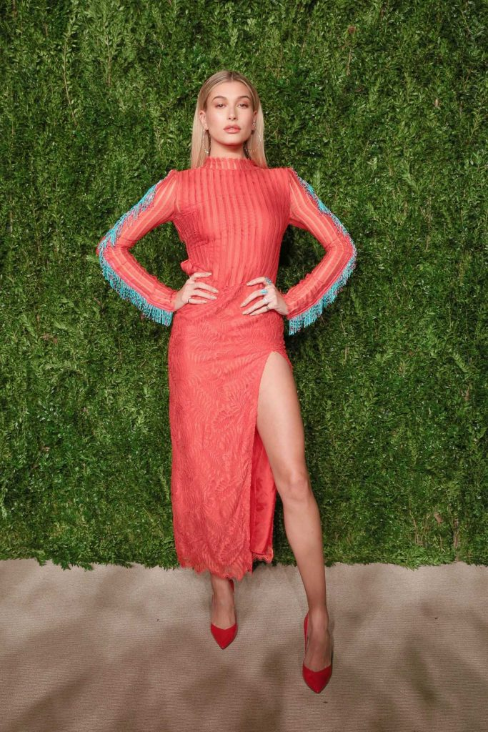 Hailey Baldwin at the 13th Annual CFDA/Vogue Fashion Fund Awards in New York City 11/07/2016-1