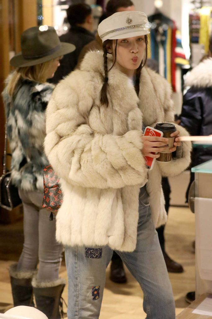 Bella Hadid Goes Shopping in Aspen 12/27/2016-1