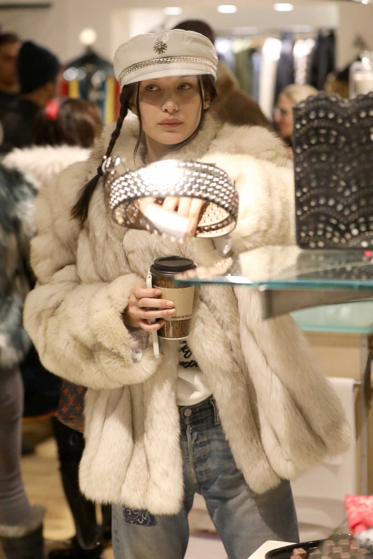 Bella Hadid Goes Shopping in Aspen 12/27/2016-2