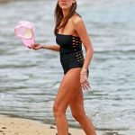 Jessica Alba Wearing a Swimsuit at the Beach in Hawaii 12/28/2016-2