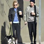 Kate Mara Walks Her Dogs With Jamie Bell in Los Feliz 12/17/2016-2