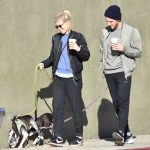 Kate Mara Walks Her Dogs With Jamie Bell in Los Feliz 12/17/2016-4