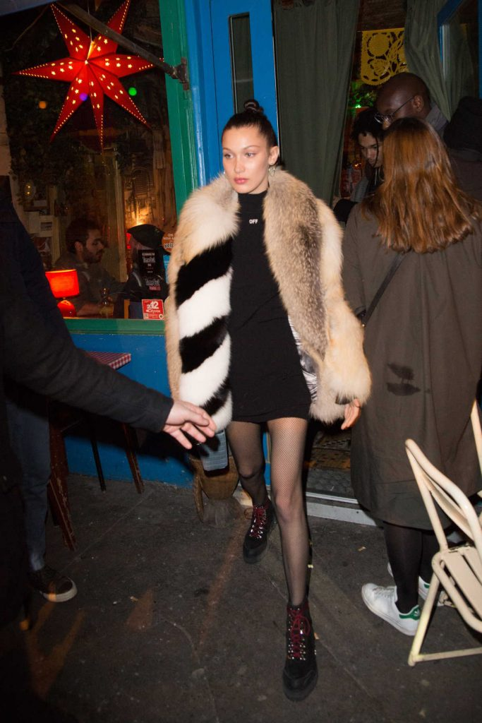 Bella Hadid Out for Dinner in Paris 01/21/2017-1