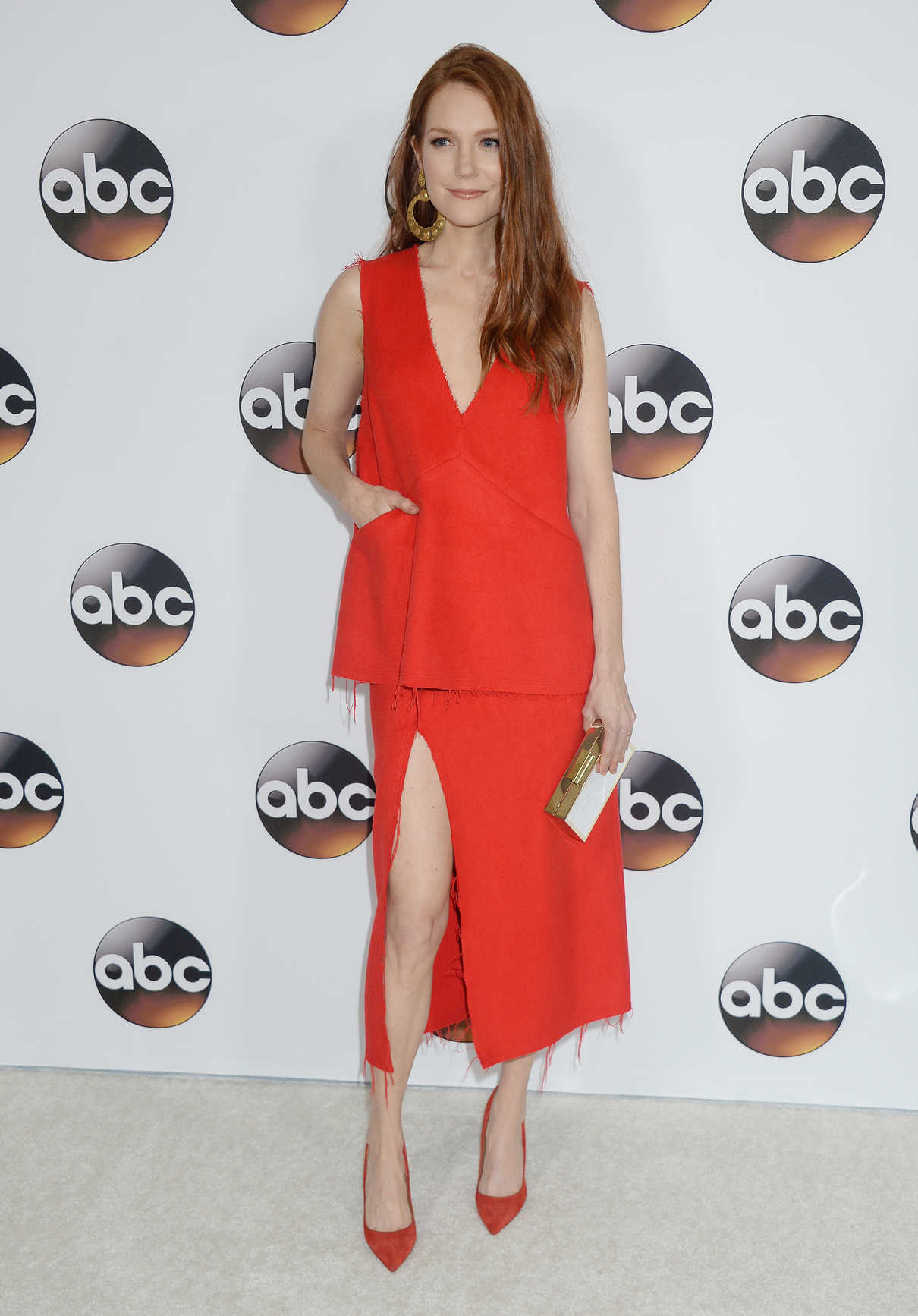Darby Stanchfield at the Disney ABC Television Hosts TCA Winter Press Tour in Pasadena 10/01/2017-2