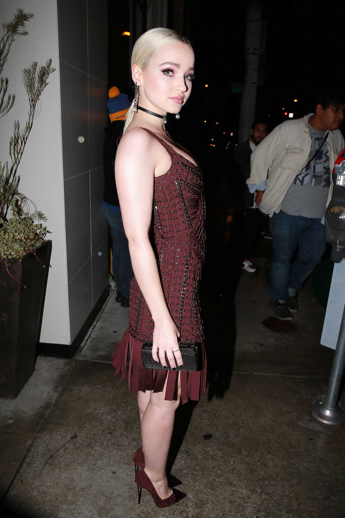Dove Cameron Leaves Catch Restaurant in LA 01/10/2017-5