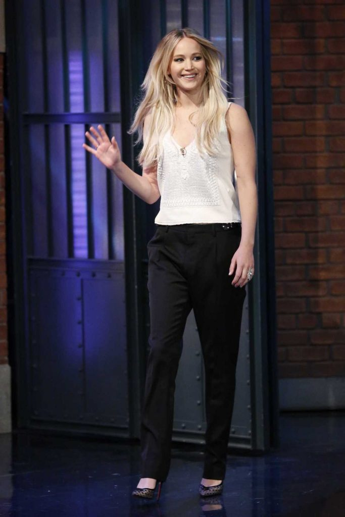 Jennifer Lawrence at the Late Night With Seth Meyers New Year's Eve Special! in New York 12/31/2016-1