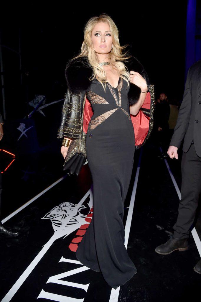 Paris Hilton at the Plein Sport Show During 2017 Milan Men's Fashion Week 01/14/2017-1