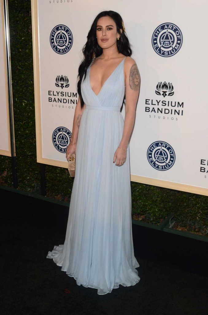Rumer Willis at the 10rh Annual Art of Elysium Heaven Gala in Los Angeles 01/07/2017-1