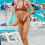 Charlotte McKinney Wearing a Bikini at the Beach in Miami 02/19/2017-3