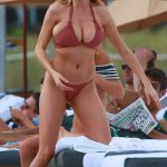 Charlotte McKinney Wearing a Bikini at the Beach in Miami 02/19/2017-4