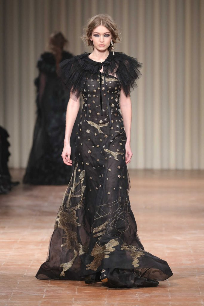 Gigi Hadid at the Alberta Ferretti Show During the Milan Fashion Week 02/22/2017-1